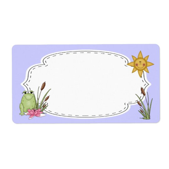 Frog and Cattails Label Shipping Label