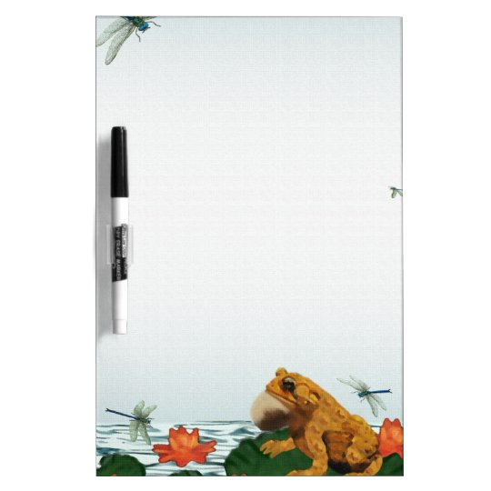 Frog and Dragonfly Dry Erase Whiteboards