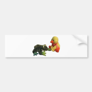 Frog and Duck Bumper Sticker