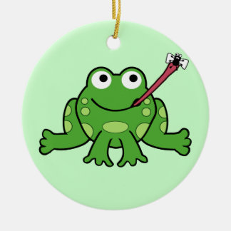 Frog and Fly Ornament