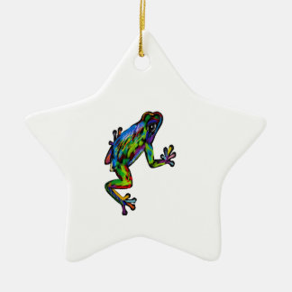 Frog and Frosch Ceramic Ornament