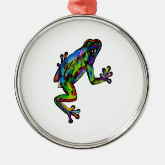 Frog and Frosch Metal Ornament