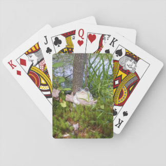 Frog And Log Ornament Poker Cards