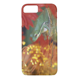 Frog and reflections among flowers. Credit as: iPhone 7 Case