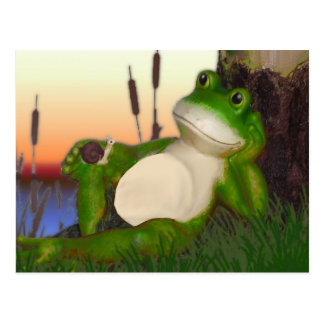 Frog and Snail Postcard