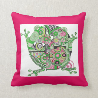 Frog and Wanderlust Throw Pillow