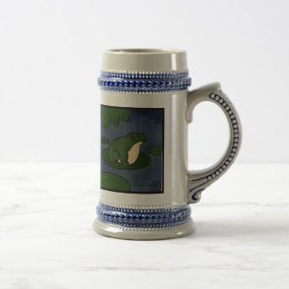 Frog - Antiquarian, Colorful Book Illustration Beer Stein