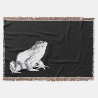 Frog Art Blanket Bull Frog Art Throw Blanket