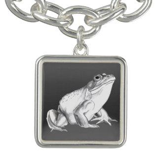 Frog Art Bracelet Bull Frog Charm Bracelets Custom