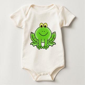 frog art inspiration green design baby bodysuit