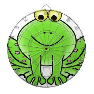 frog art inspiration green design dartboard