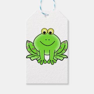 frog art inspiration green design gift tags