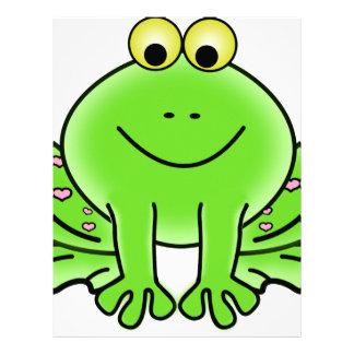 frog art inspiration green design letterhead