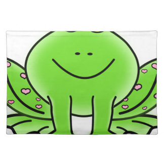 frog art inspiration green design placemat