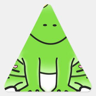 frog art inspiration green design triangle sticker