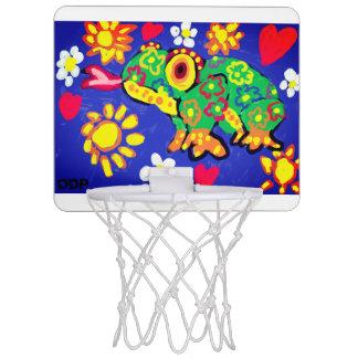Frog art mini basketball hoop