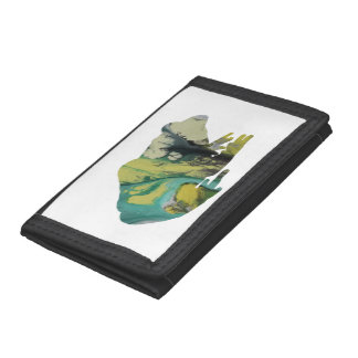 Frog art trifold wallet