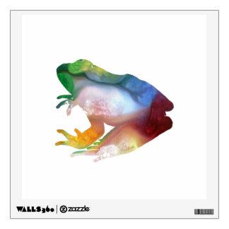 Frog art wall sticker