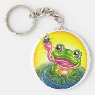 Frog Basic Round Button Keychain