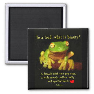 Frog Beauty Square Magnet