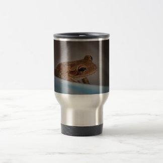 Frog behind blue neat animal amphibian photo mug