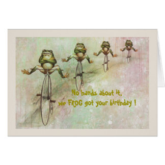 Frog Belated Birthday Card