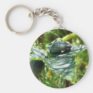 Frog Birthday Basic Round Button Keychain