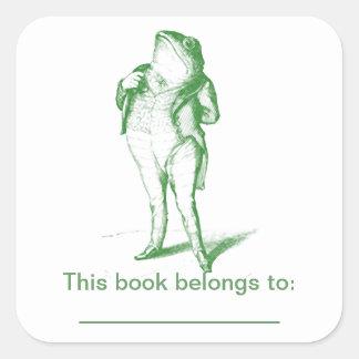 Frog  Bookplate Square Sticker