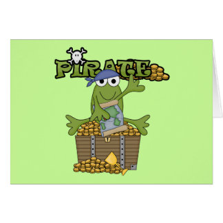Frog Boy Pirate With Gold Tshirts and Gifts Card