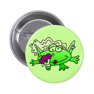Frog Bride T-shirts and Gifts Pinback Button