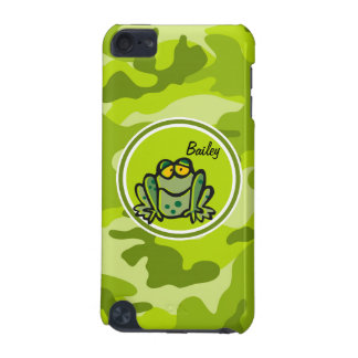 Frog bright green camo camouflage iPod touch 5G case