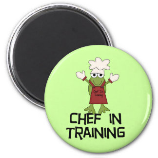 Frog Chef in Training Tshirts and Gifts Magnet