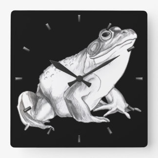 Frog Clock Bull Frog Wall Clocks & Wildlife Decor