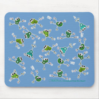 Frog Collage Mouse Pad