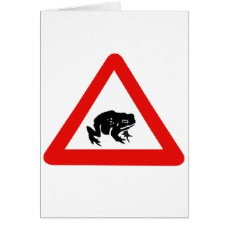 Frog Crossing, Traffic Sign, UK Card