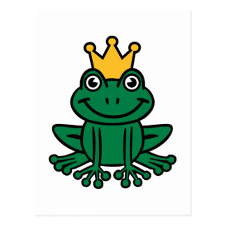 Frog crown postcard