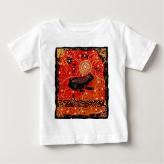 Frog Dreaming Red Baby T-Shirt