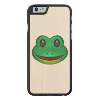 Frog - Emoji Carved Maple iPhone 6 Case