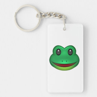 Frog - Emoji Double-Sided Rectangular Acrylic Keychain