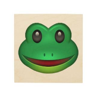 Frog - Emoji Wood Canvas