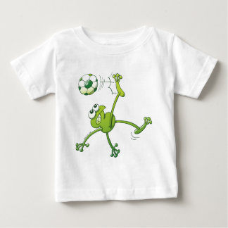 Frog Executing a Bycicle Kick with a Soccer Ball Baby T-Shirt