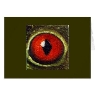 Frog Eye Enlarged Card
