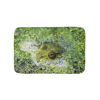 Frog Eyes in a Pond Bath Mat