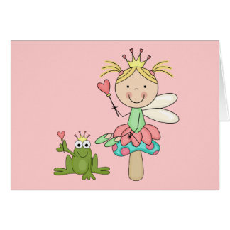 Frog Fairy - Blond T-shirts and Gifts Card