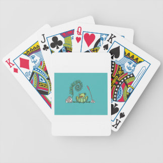Frog, Fern and Bullrush Bicycle Playing Cards