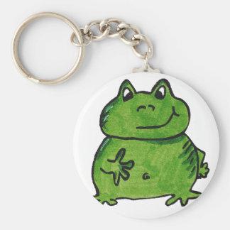 Frog Frog Basic Round Button Keychain