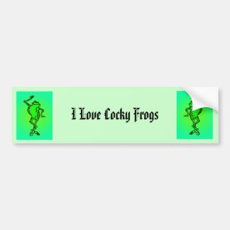 frog, froga, I Love Cocky Frogs Bumper Sticker