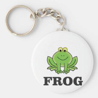 frog frogger basic round button keychain