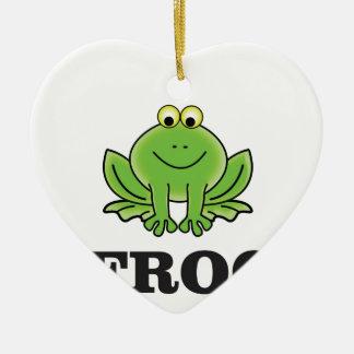 frog frogger ceramic ornament