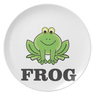 frog frogger party plate